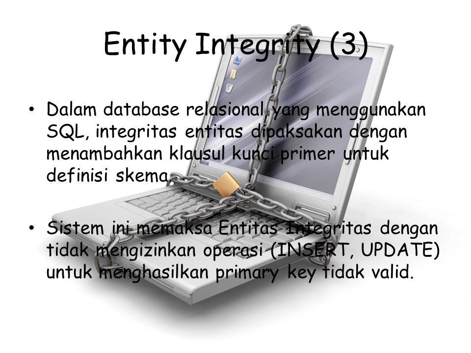 Entity Integrity (3)