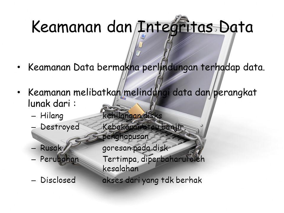 Keamanan dan Integritas Data