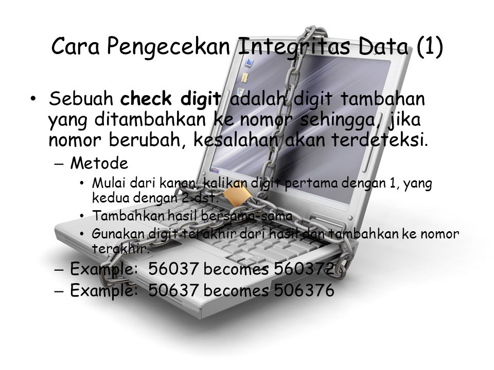 Cara Pengecekan Integritas Data (1)