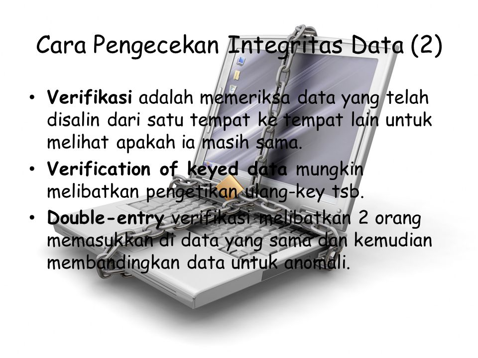 Cara Pengecekan Integritas Data (2)