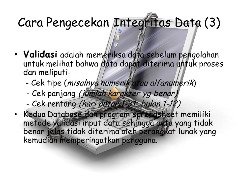 Cara Pengecekan Integritas Data (3)