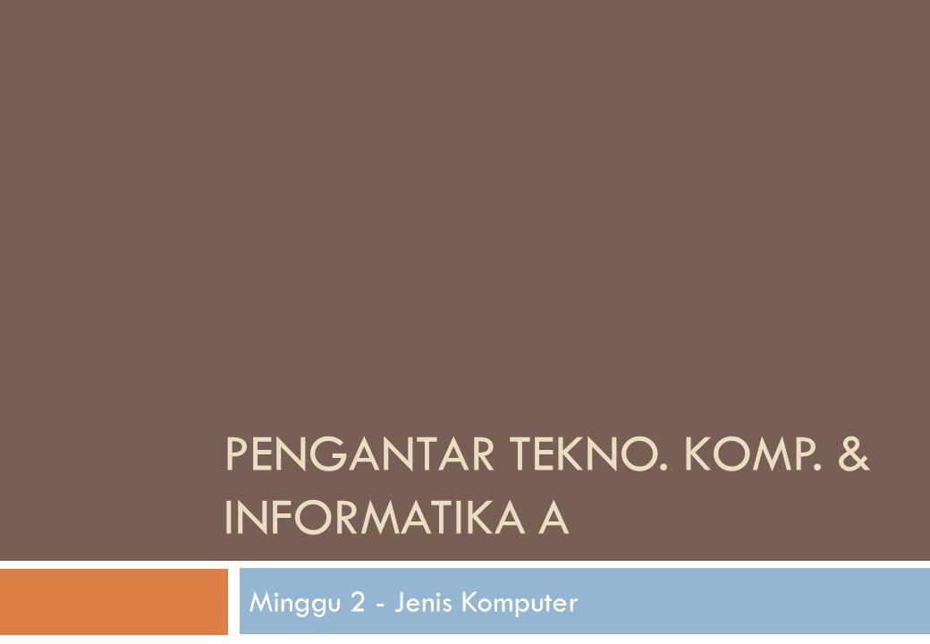 Pengantar Tekno. Komp. & Informatika A