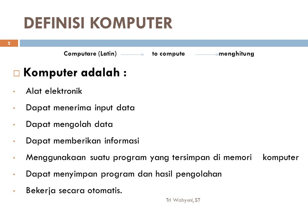 Computare (Latin) to compute menghitung
