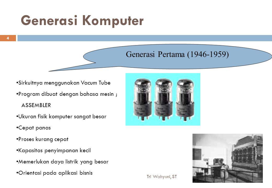 Generasi Komputer Generasi Pertama (1946-1959)