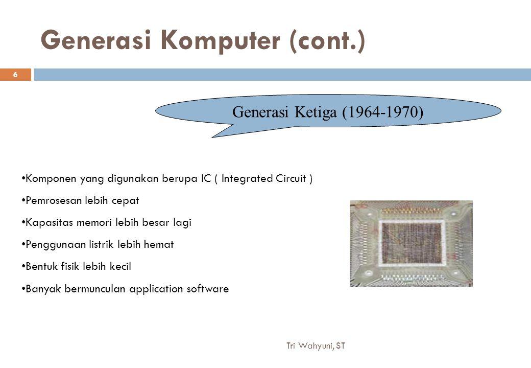 Generasi Komputer (cont.)