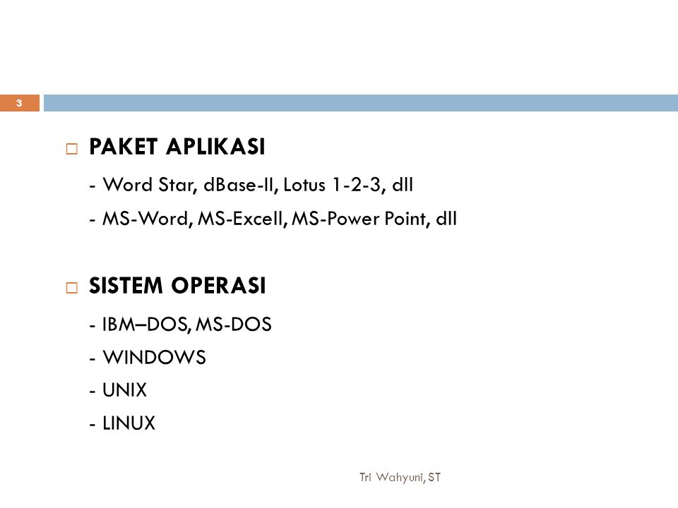 - Word Star, dBase-II, Lotus 1-2-3, dll