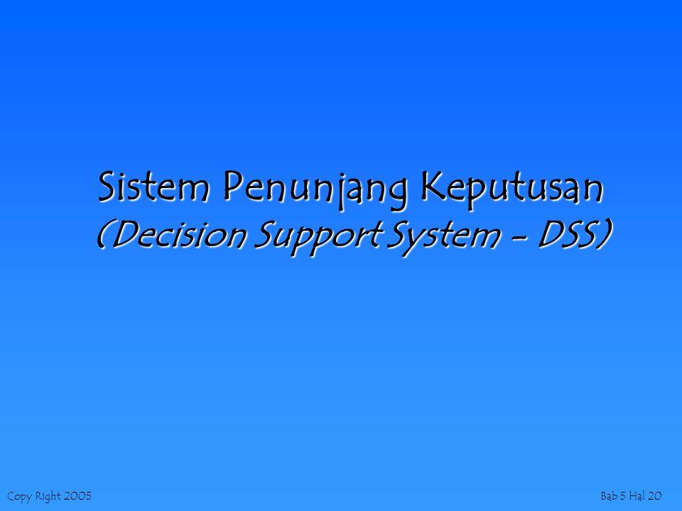 Sistem Penunjang Keputusan (Decision Support System - DSS)