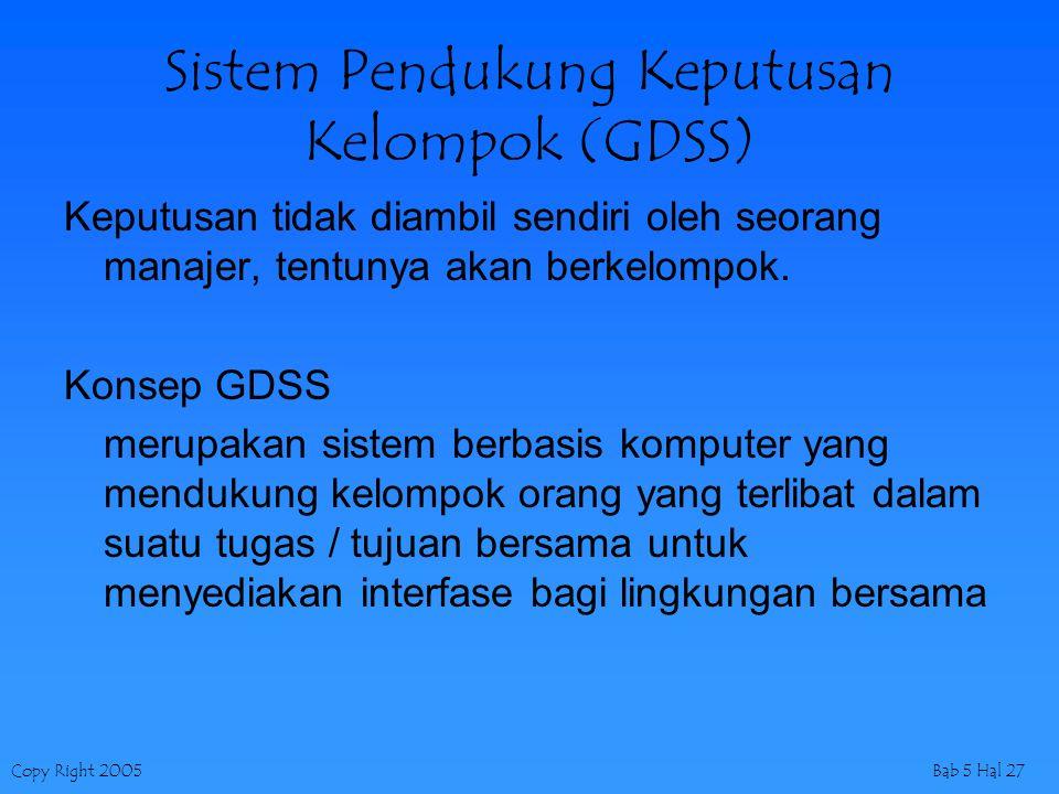 Sistem Pendukung Keputusan Kelompok (GDSS)