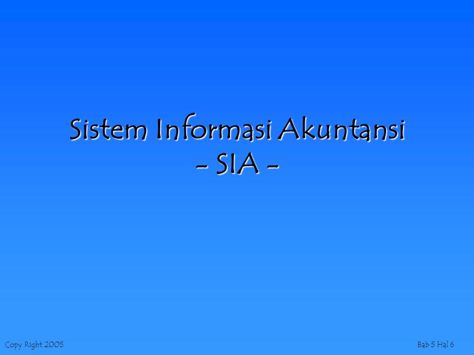 Sistem Informasi Akuntansi - SIA -