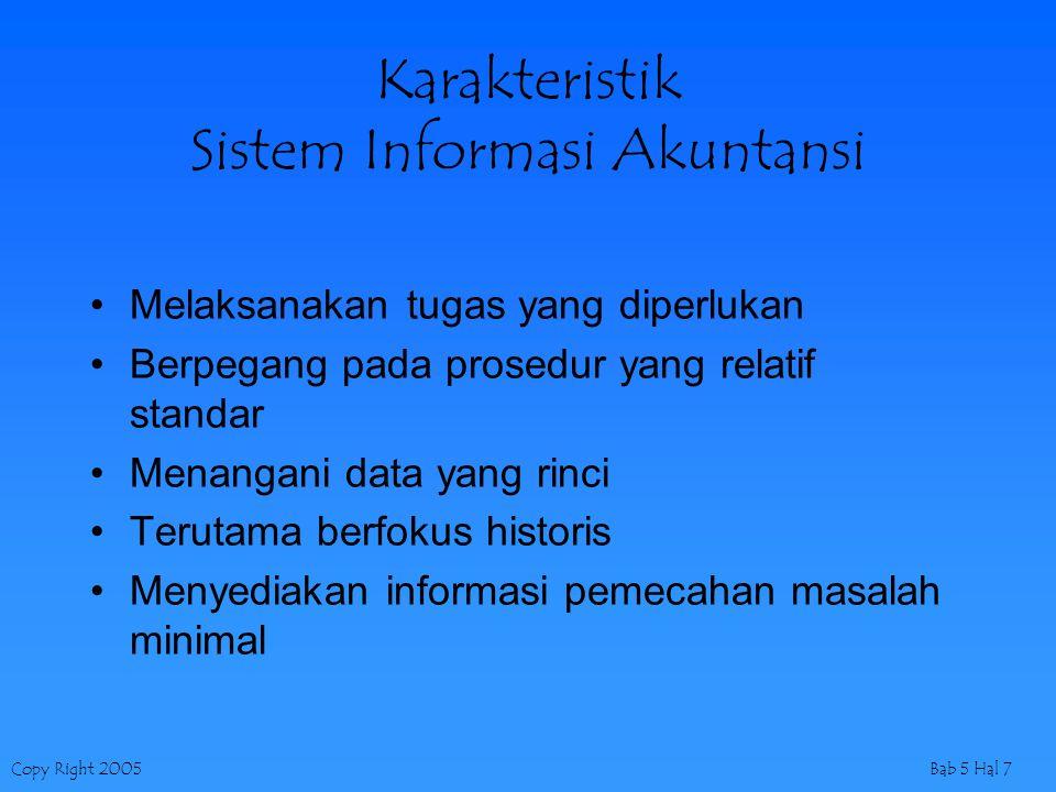 Karakteristik Sistem Informasi Akuntansi