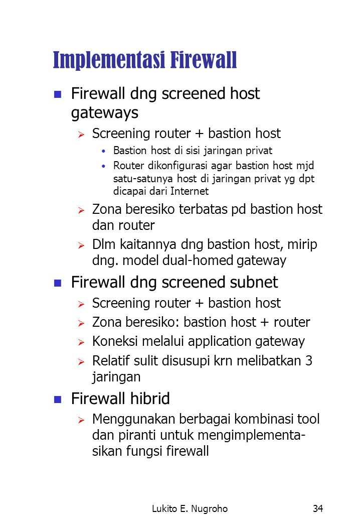 Implementasi Firewall