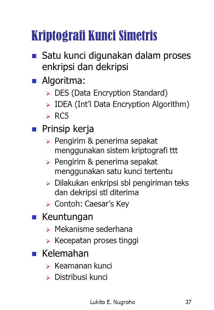 Kriptografi Kunci Simetris