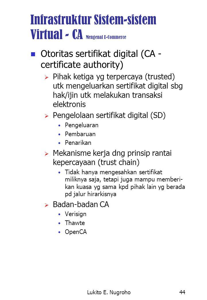 Infrastruktur Sistem-sistem Virtual - CA Mengenal E-Commerce