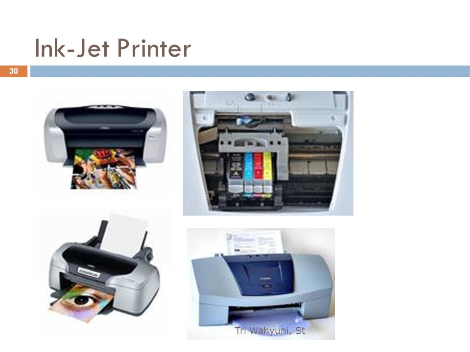 Ink-Jet Printer Tri Wahyuni, St
