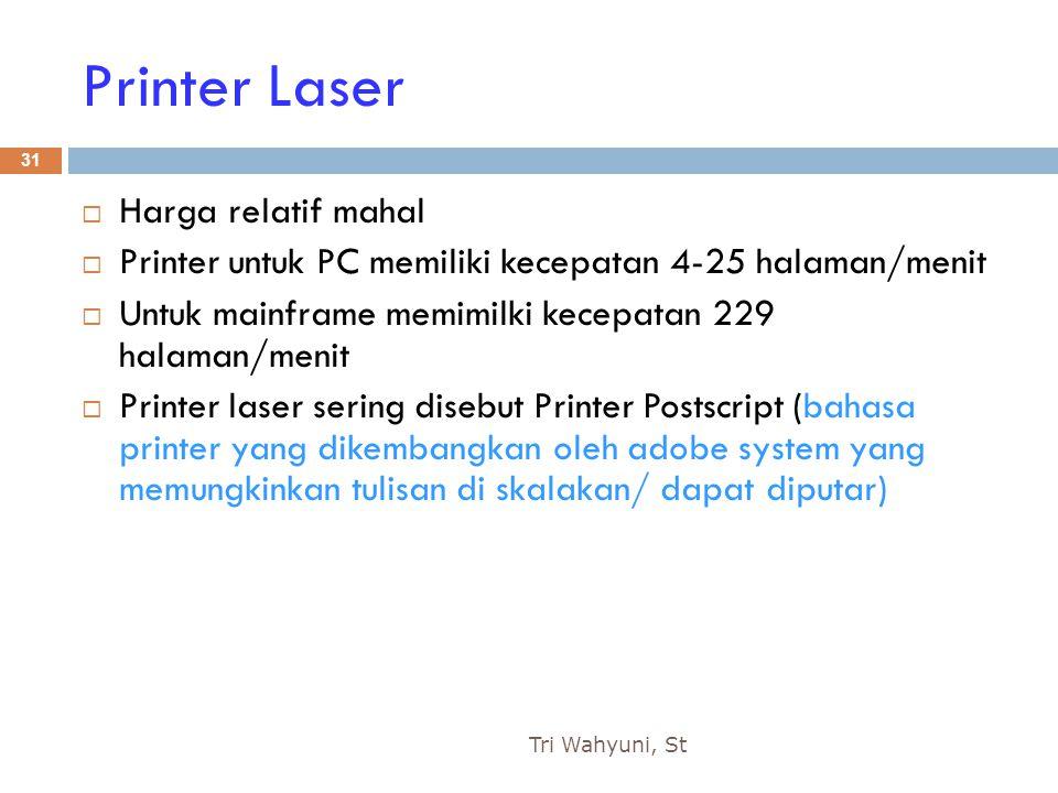 Printer Laser Harga relatif mahal