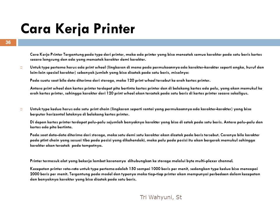 Cara Kerja Printer Tri Wahyuni, St