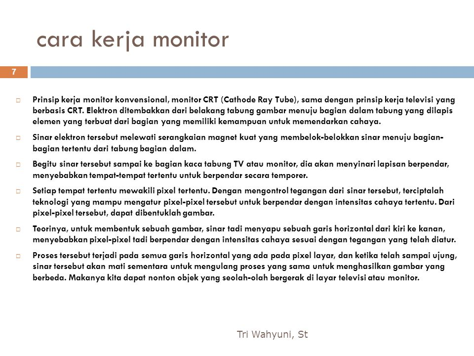 cara kerja monitor