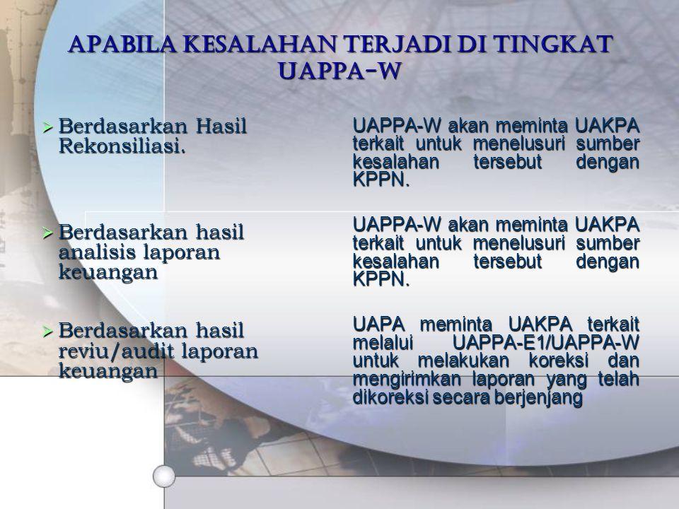 Apabila kesalahan terjadi di tingkat UAPPA-W