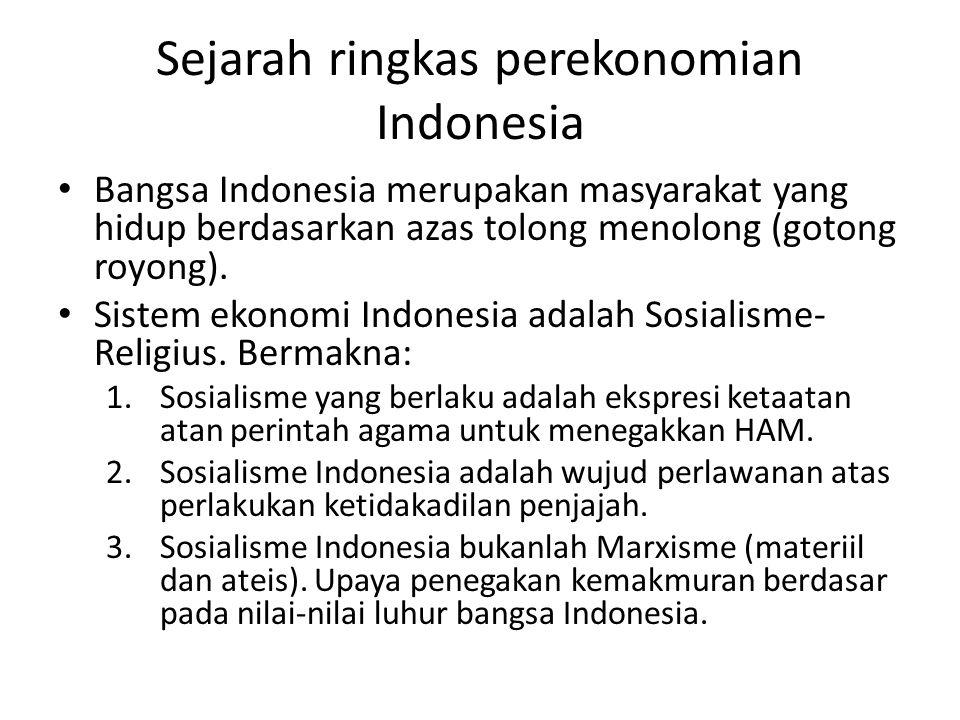 Sejarah ringkas perekonomian Indonesia
