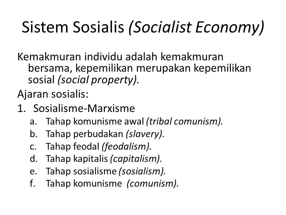 Sistem Sosialis (Socialist Economy)