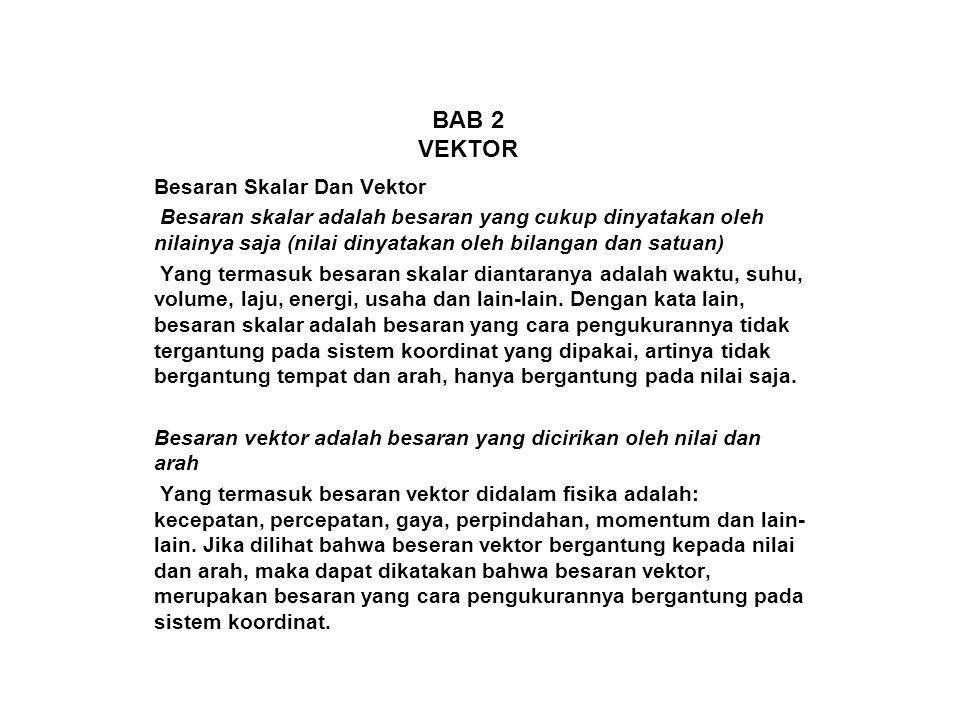 BAB 2 VEKTOR Besaran Skalar Dan Vektor