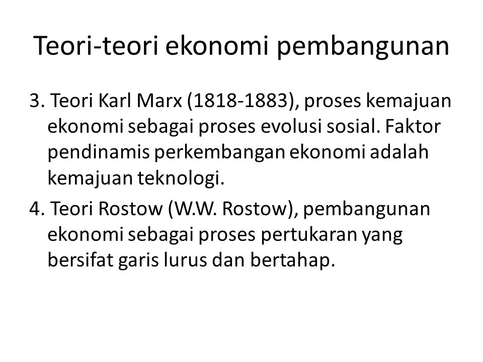 Teori-teori ekonomi pembangunan