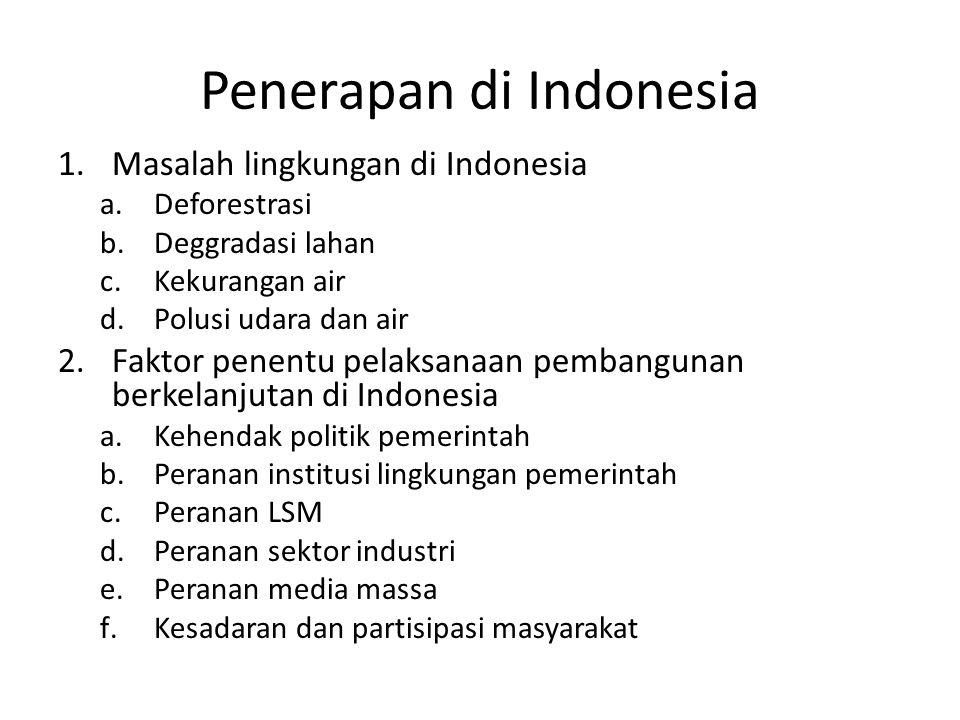 Penerapan di Indonesia