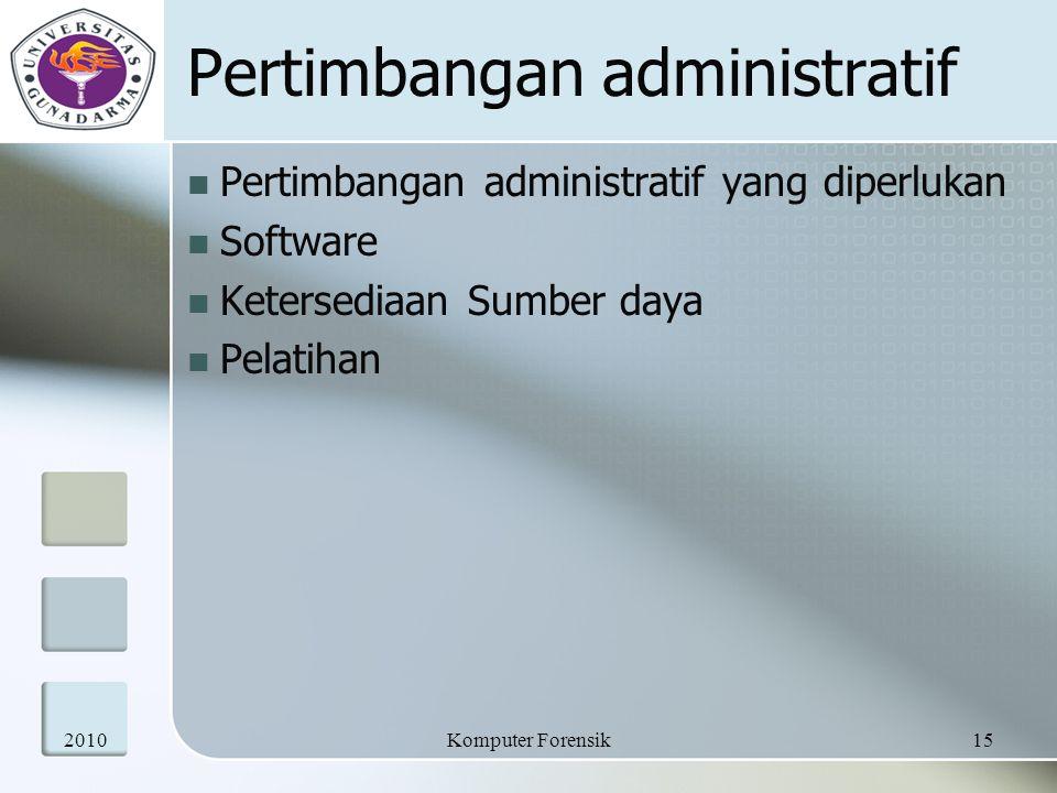 Pertimbangan administratif