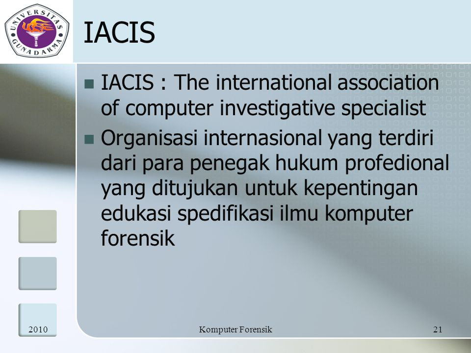 IACIS IACIS : The international association of computer investigative specialist.