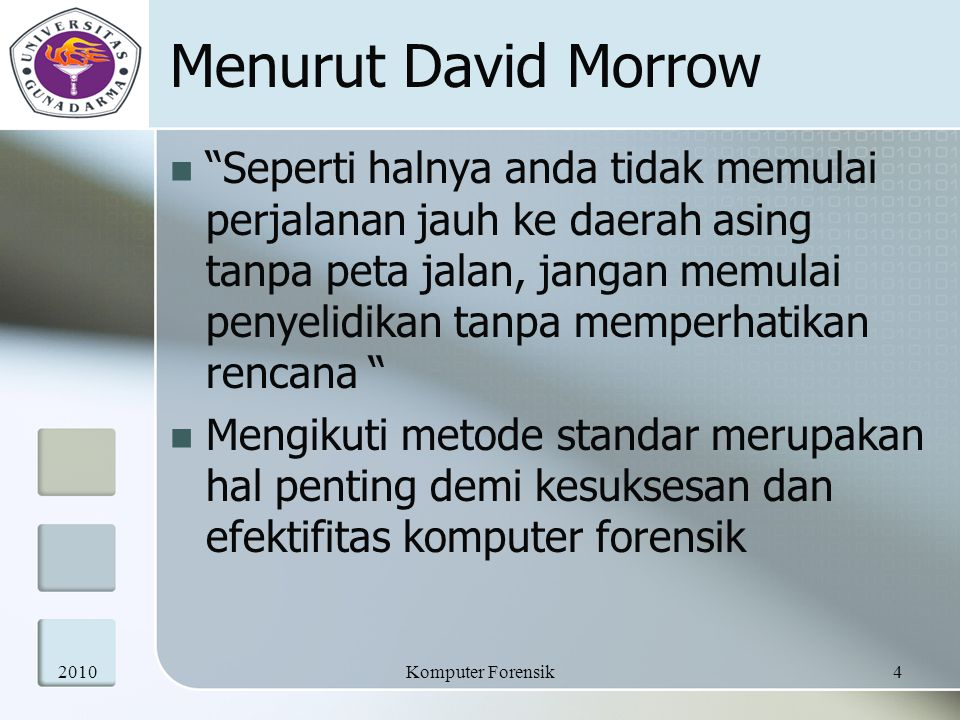 Menurut David Morrow