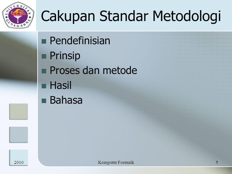 Cakupan Standar Metodologi