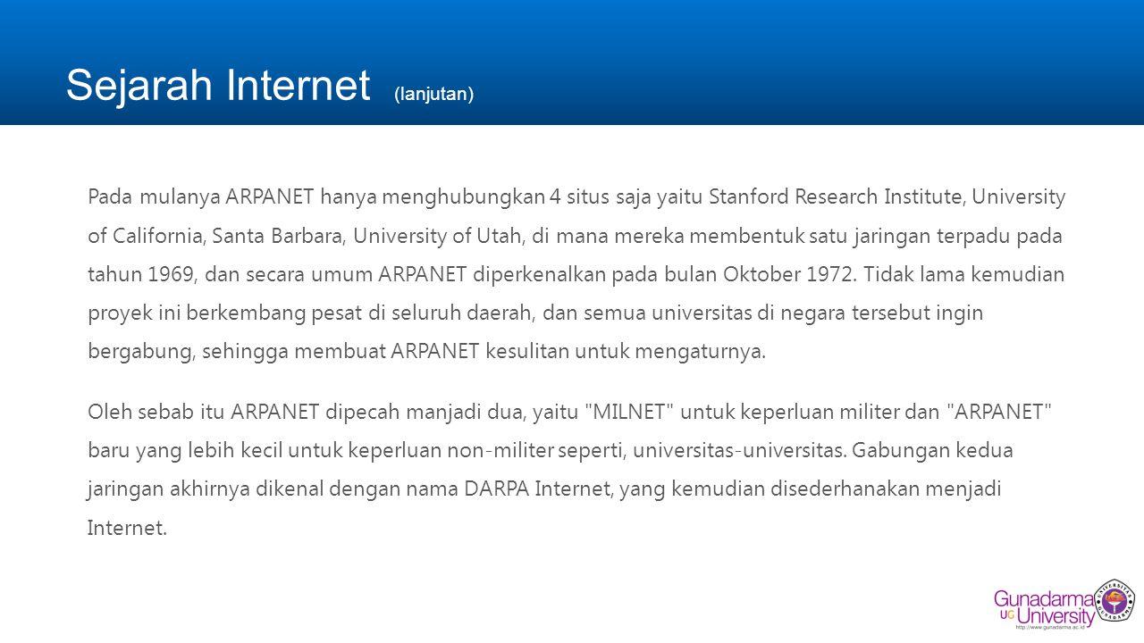 Sejarah Internet (lanjutan)