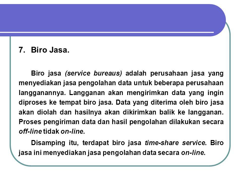 7. Biro Jasa.