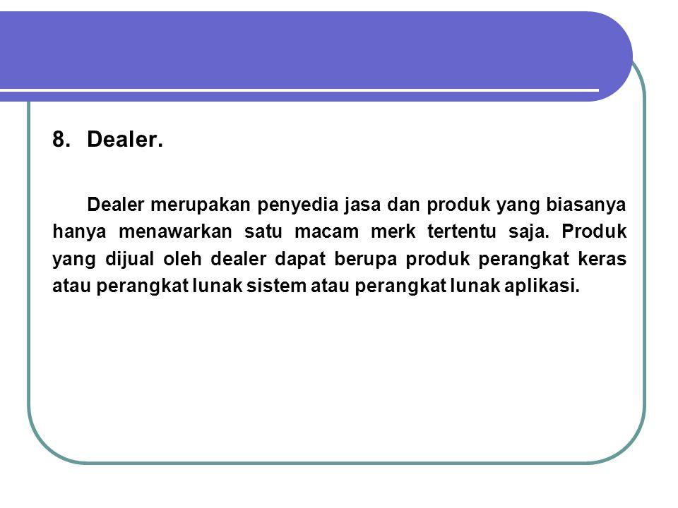 8. Dealer.