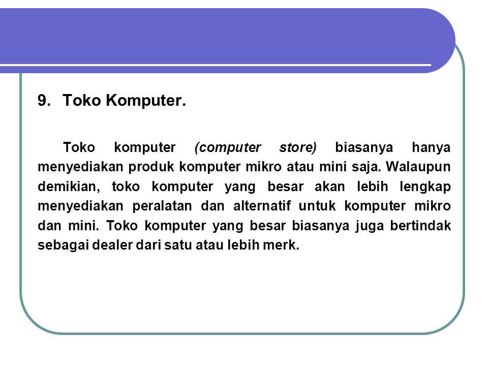 9. Toko Komputer.