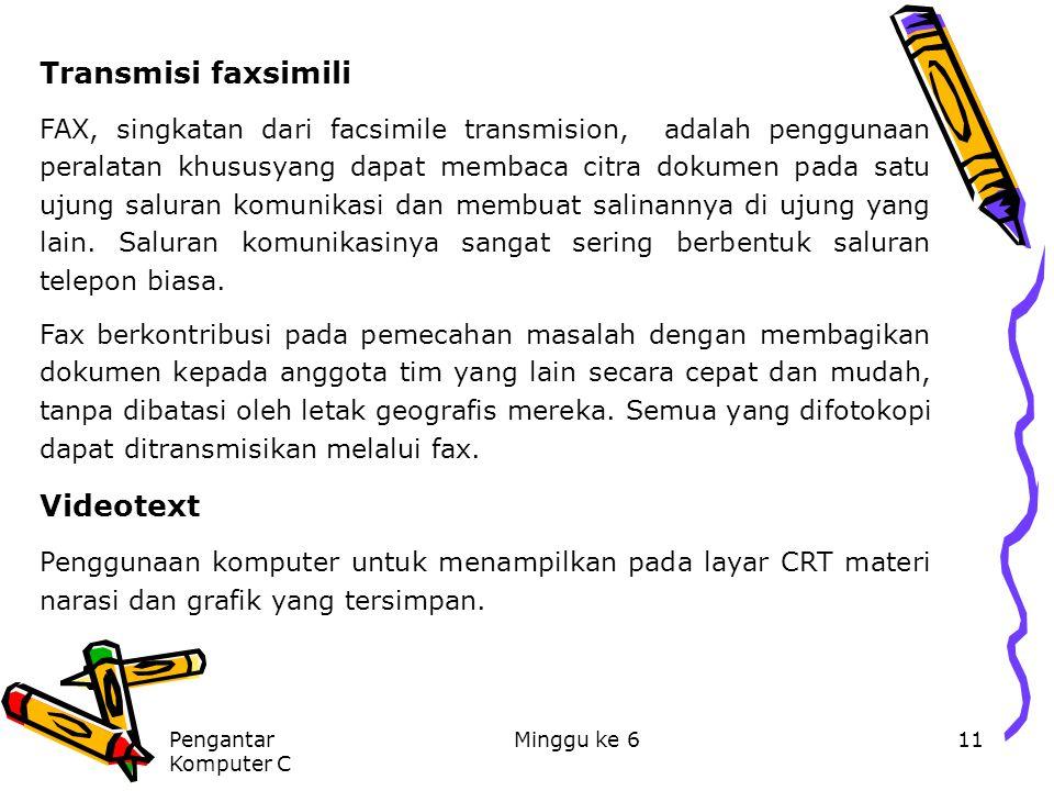 Transmisi faxsimili Videotext