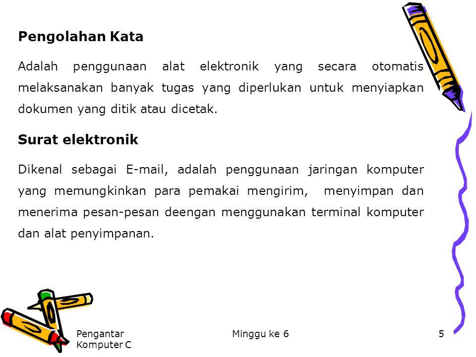 Pengolahan Kata Surat elektronik