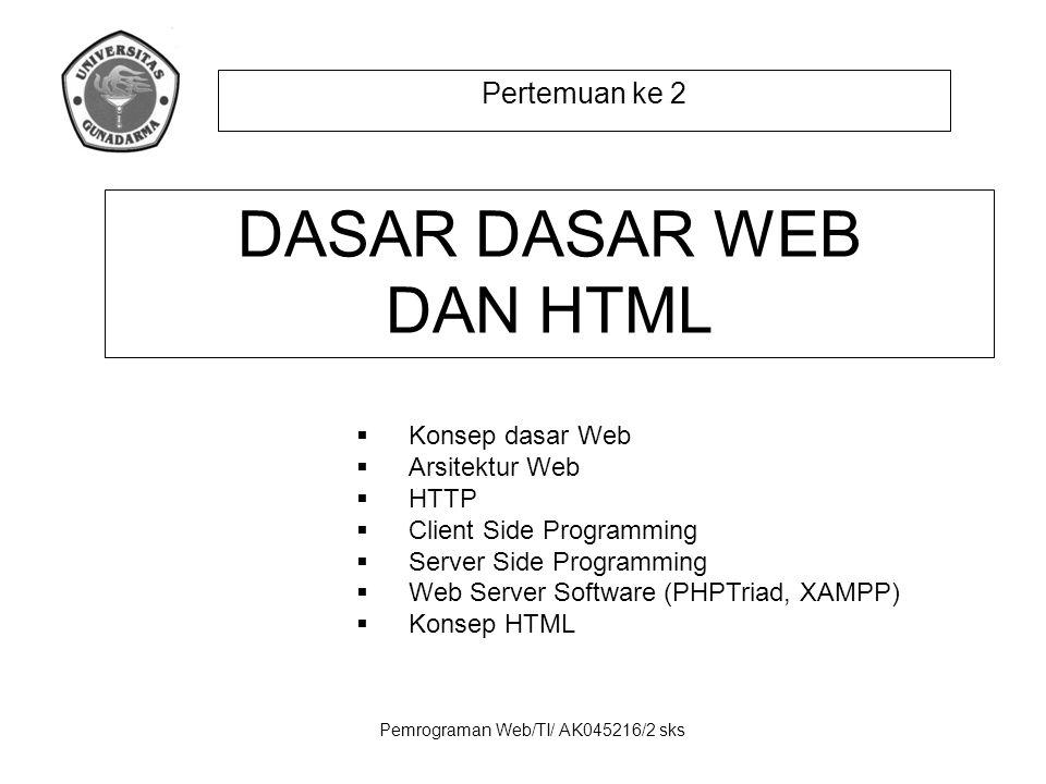 DASAR DASAR WEB DAN HTML