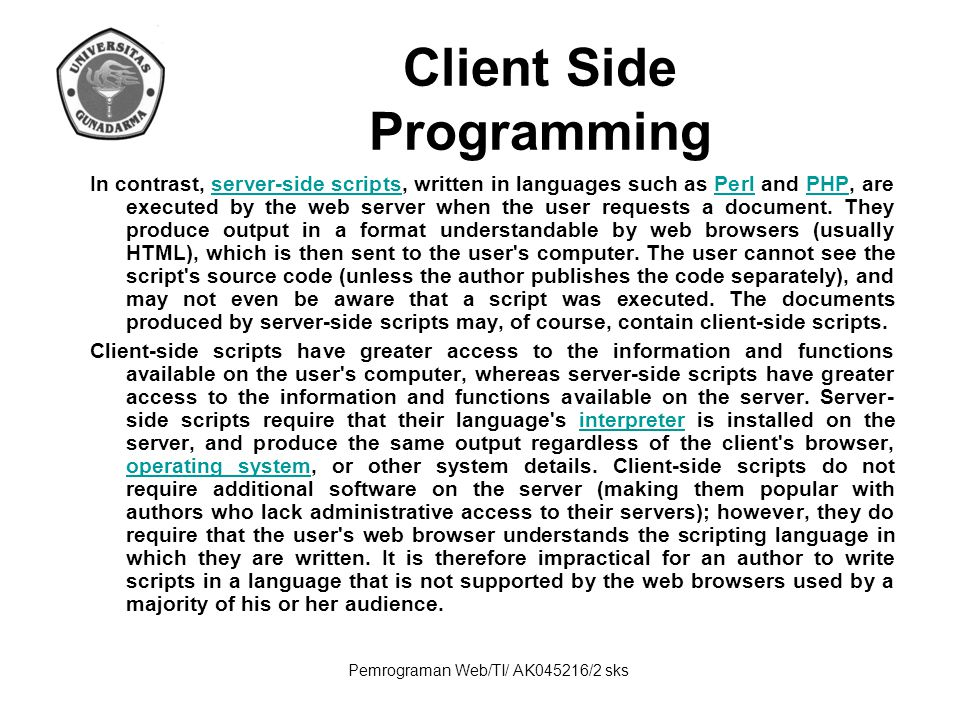 Client Side Programming