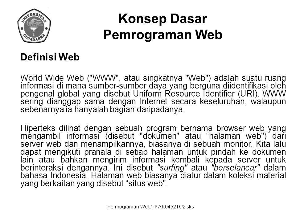 Konsep Dasar Pemrograman Web