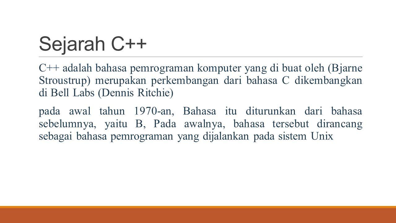 Sejarah C++