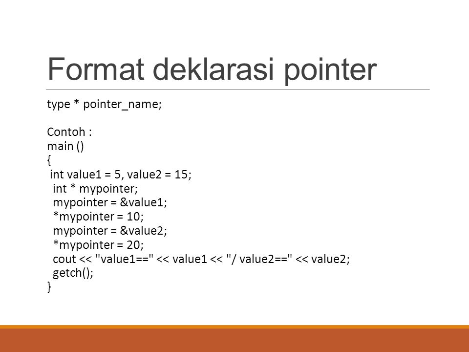 Format deklarasi pointer