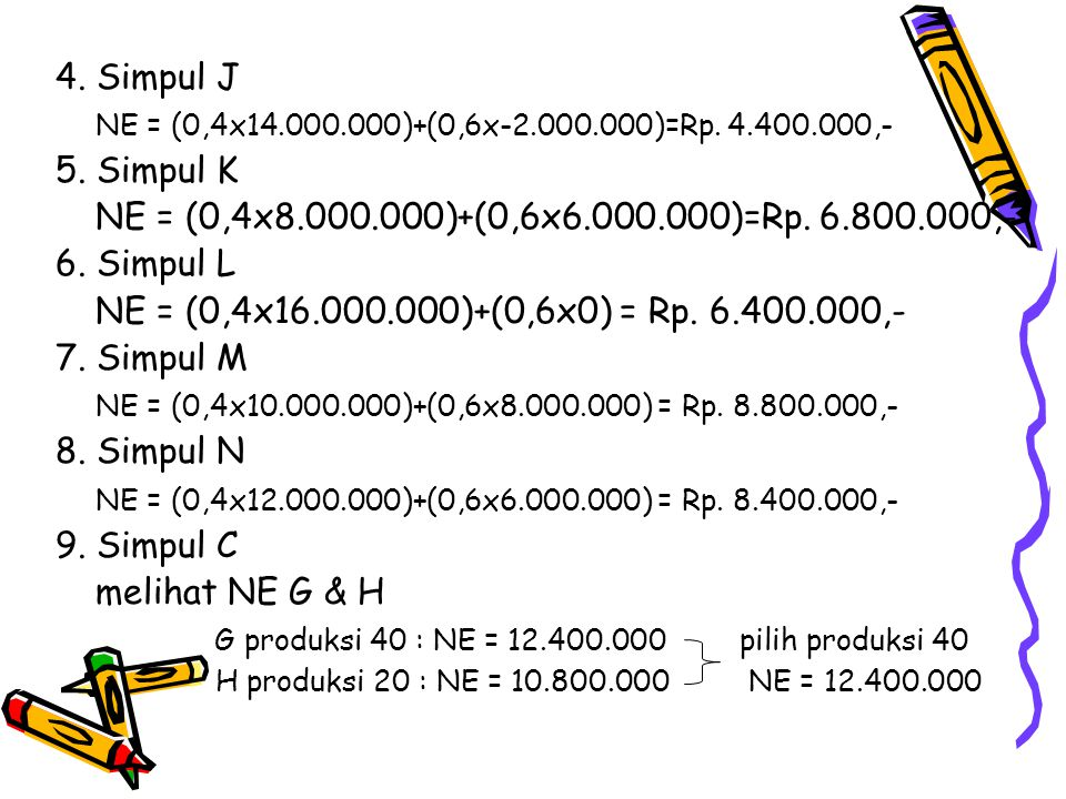 G produksi 40 : NE = 12.400.000 pilih produksi 40