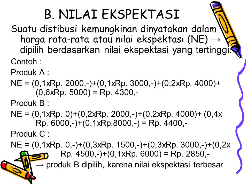 B. NILAI EKSPEKTASI