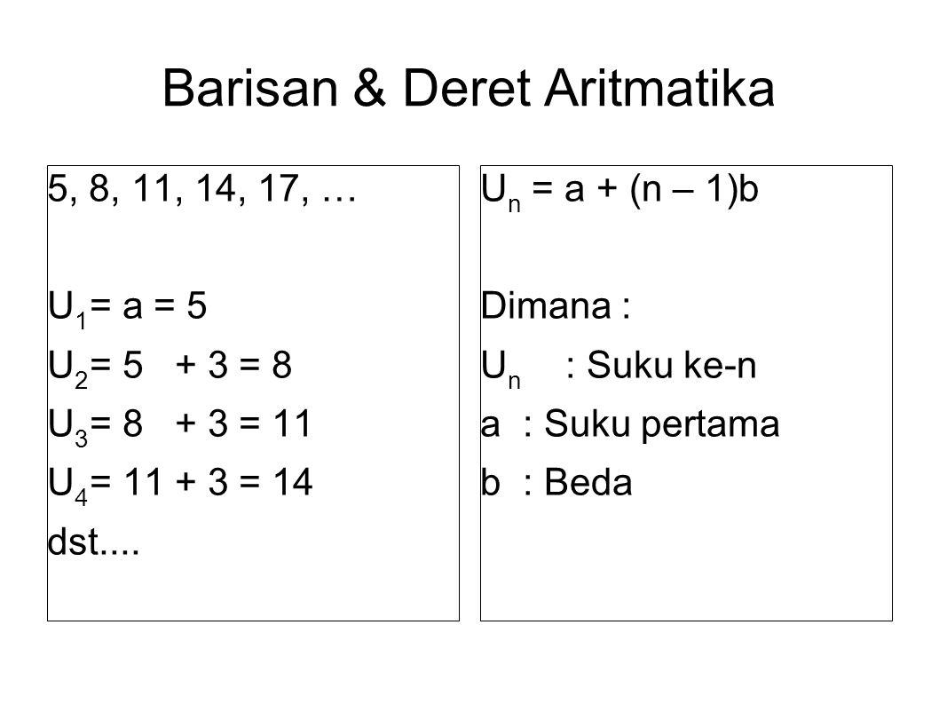 Barisan & Deret Aritmatika