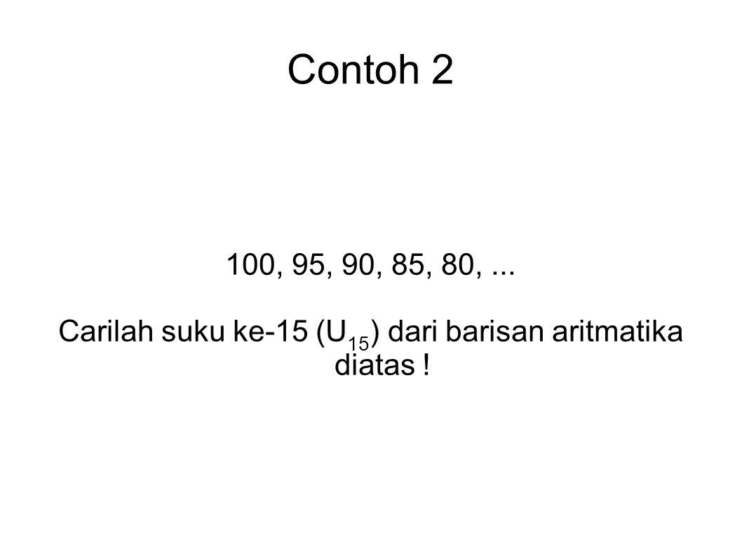Carilah suku ke-15 (U15) dari barisan aritmatika diatas !