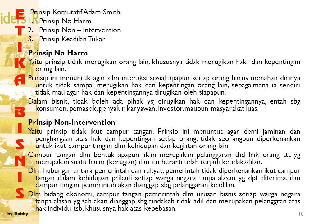 Prinsip Komutatif Adam Smith:
