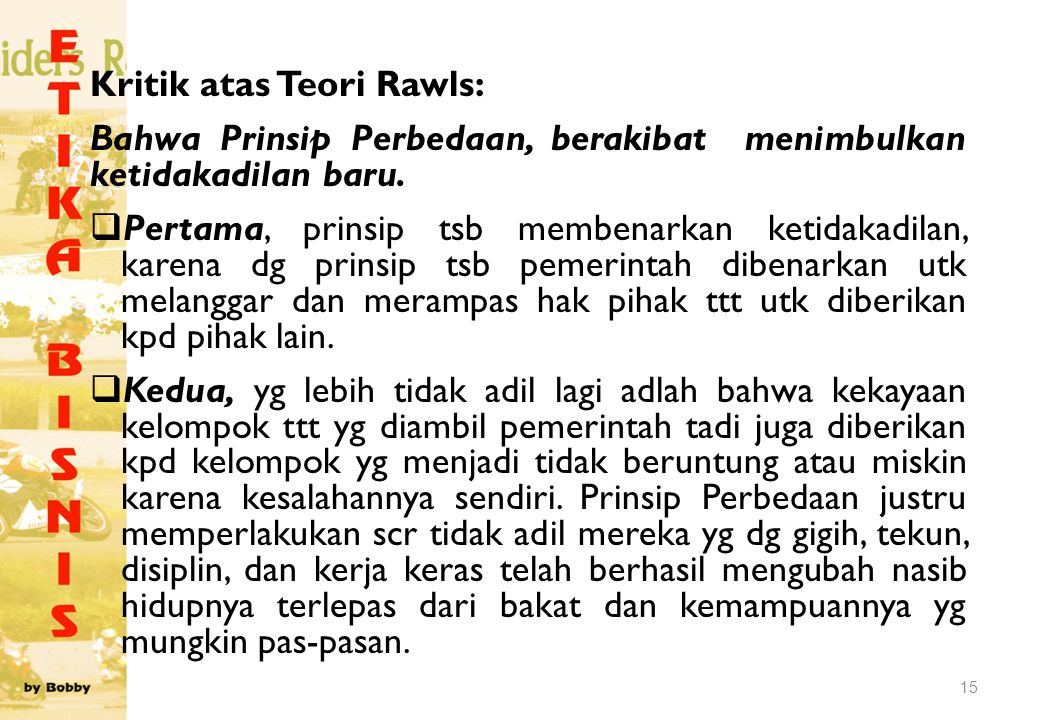Kritik atas Teori Rawls: