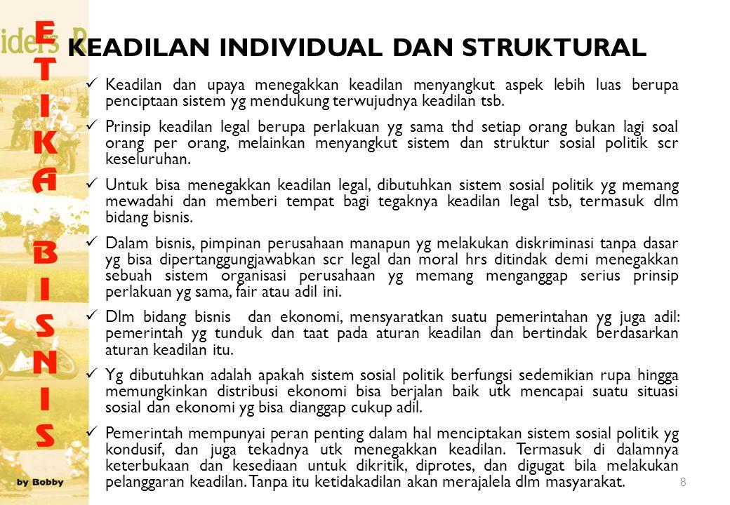 KEADILAN INDIVIDUAL DAN STRUKTURAL