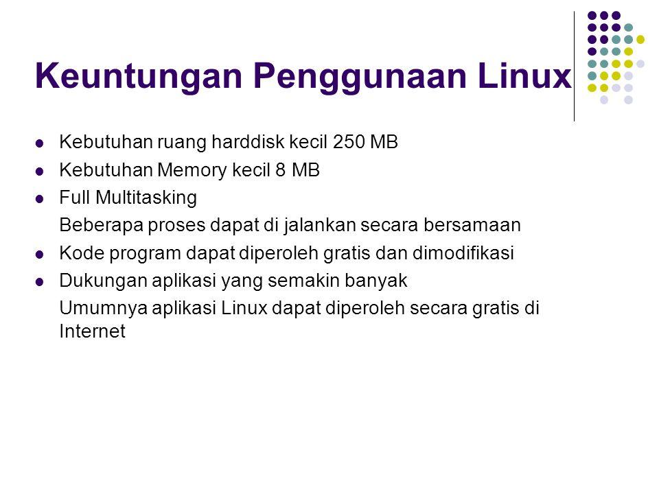 Keuntungan Penggunaan Linux
